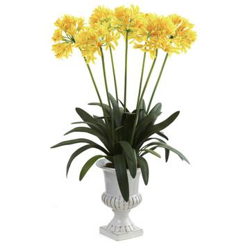 African Lily w/Urn - SKU #1332-YL