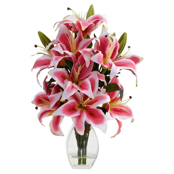 Rubrum Lily w/Decorative Vase - SKU #1343