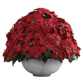 Giant Poinsettia Arrangement w/Decorative Planter - SKU #1345