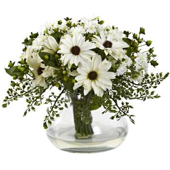 Large Mixed Daisy Arrangement - SKU #1353-WH