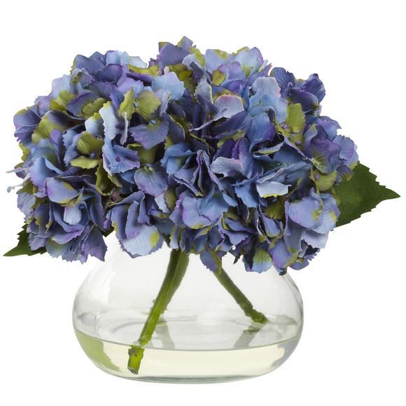 Blooming Hydrangea w/Vase - SKU #1356 - 1