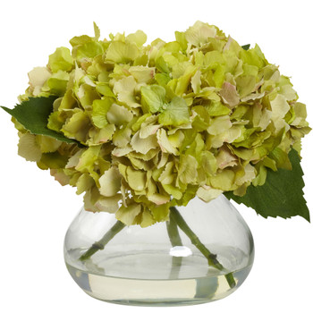 Blooming Hydrangea w/Vase - SKU #1356-GR