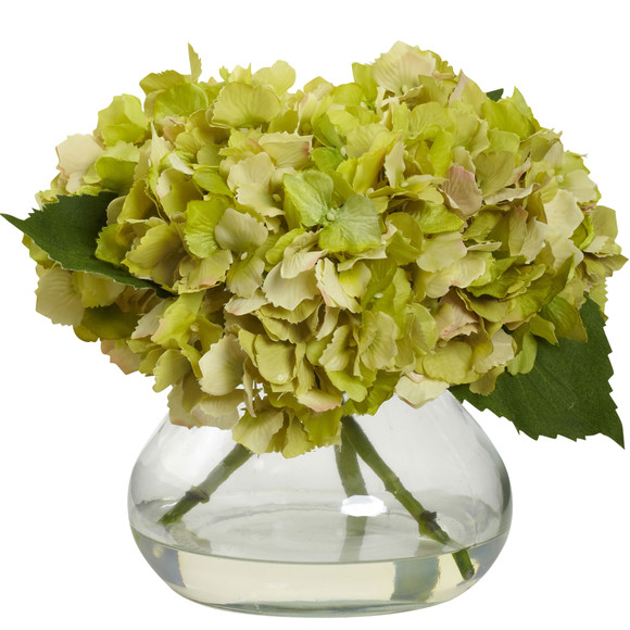 Blooming Hydrangea w/Vase - SKU #1356 - 3