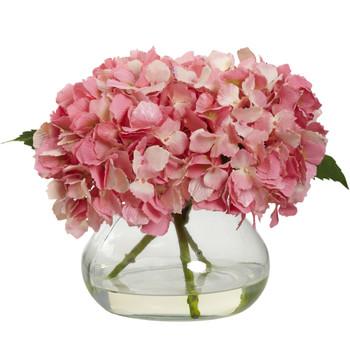 Blooming Hydrangea w/Vase - SKU #1356