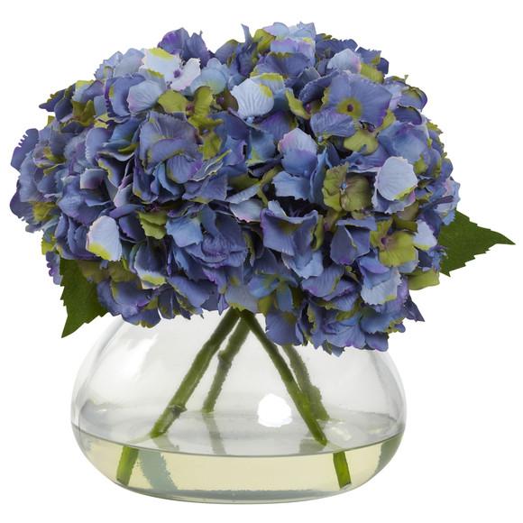 Large Blooming Hydrangea w/Vase - SKU #1357 - 1