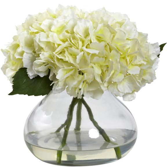 Large Blooming Hydrangea w/Vase - SKU #1357 - 2