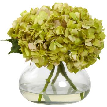 Large Blooming Hydrangea w/Vase - SKU #1357-GR