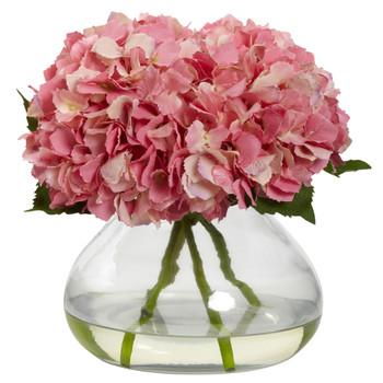 Large Blooming Hydrangea w/Vase - SKU #1357