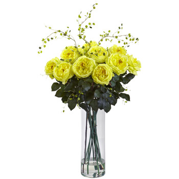 Giant Fancy Rose Willow Arrangement - SKU #1358-YL
