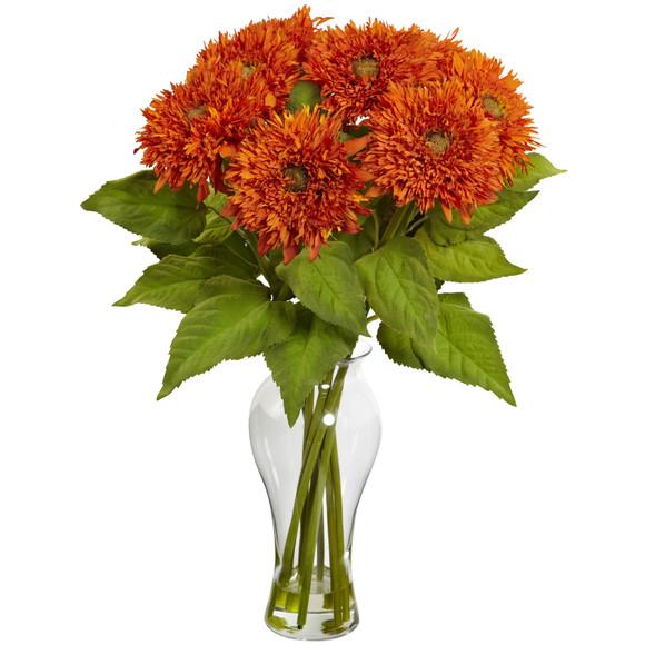 Sunflower Arrangement w/Vase - SKU #1360 - 4