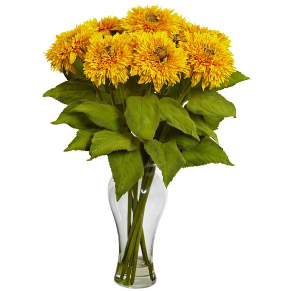 Sunflower Arrangement w/Vase - SKU #1360 - 3