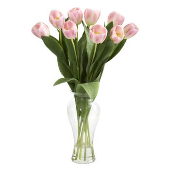 24 Tulips w/Vase - SKU #1361-PK