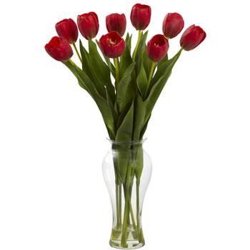 24 Tulips w/Vase - SKU #1361