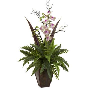 Fern Orchid Arrangement - SKU #1365
