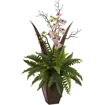 Fern Orchid Arrangement - SKU #1365