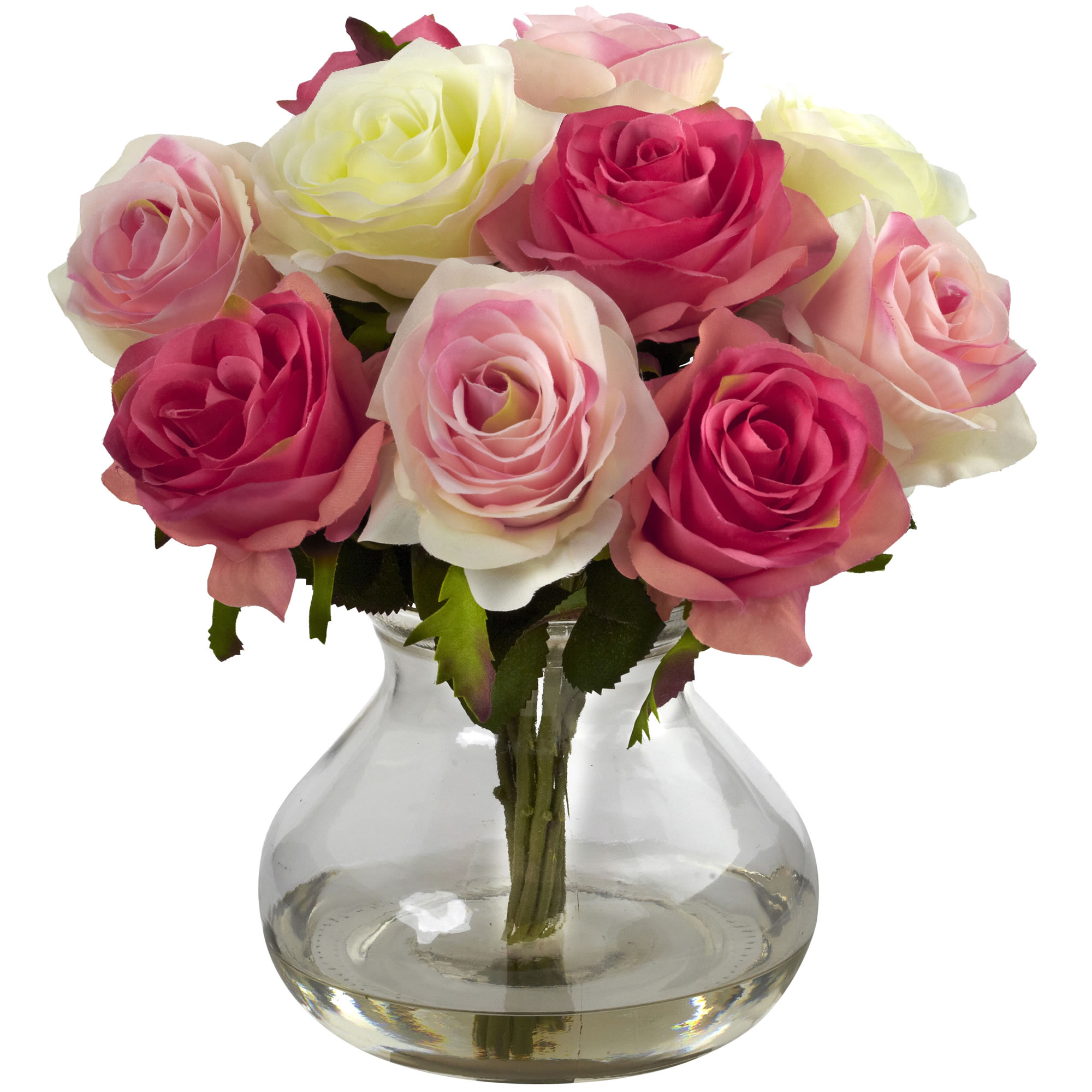 Artificial 11 roses bouquet flowers floral arrangement in faux image is loading artificial 11 034 roses bouquet flowers floral arrangement izmirmasajfo