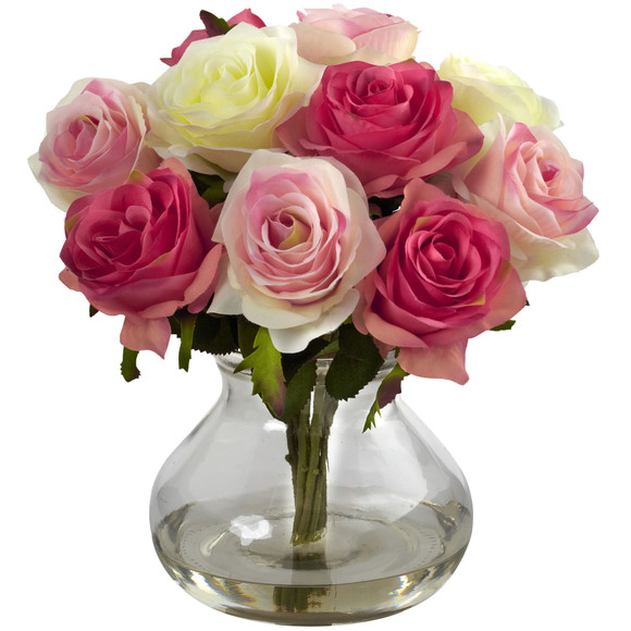 Rose Arrangement w/Vase - SKU #1367 - 8