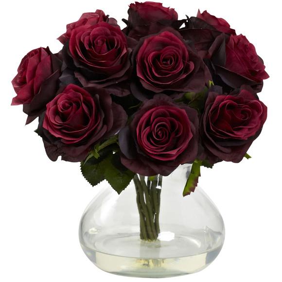Rose Arrangement w/Vase - SKU #1367 - 4