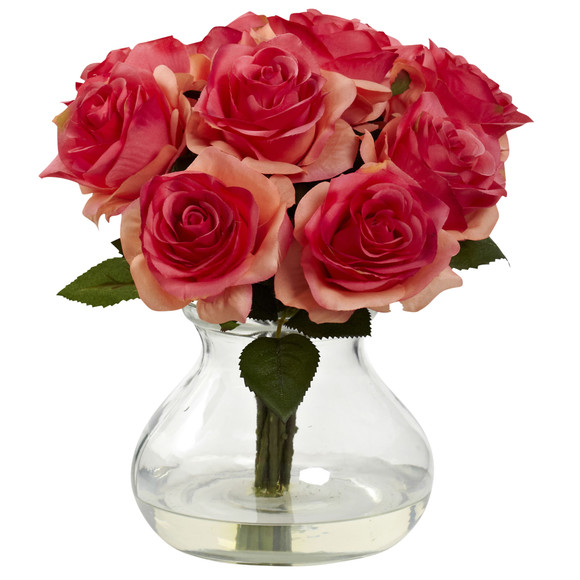 Rose Arrangement w/Vase - SKU #1367 - 3