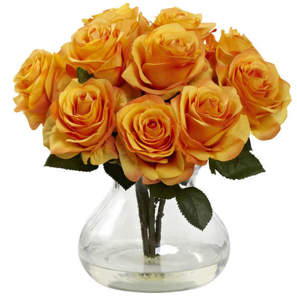 Rose Arrangement w/Vase - SKU #1367 - 9