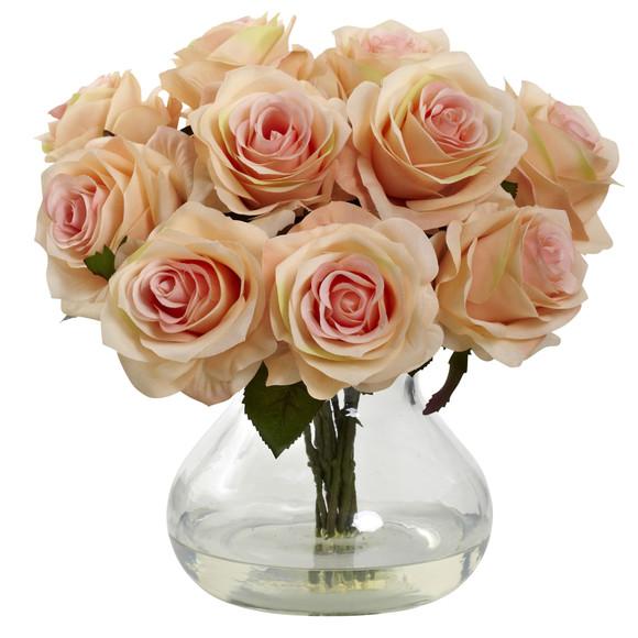 Rose Arrangement w/Vase - SKU #1367 - 5