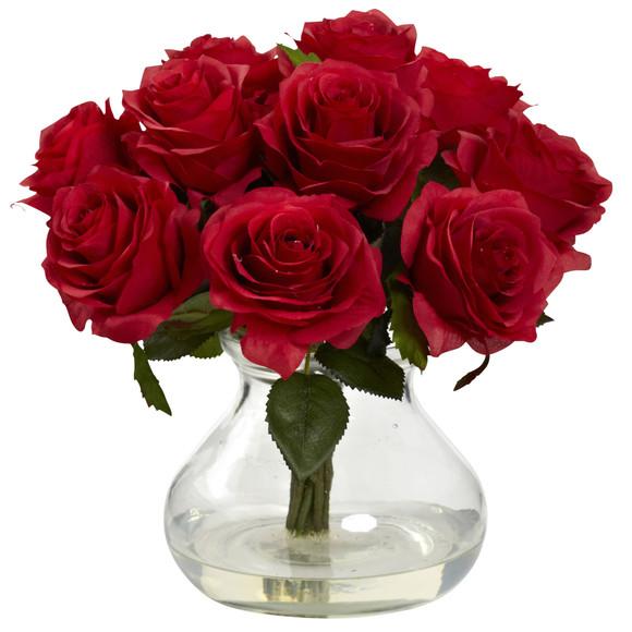 Rose Arrangement w/Vase - SKU #1367 - 1