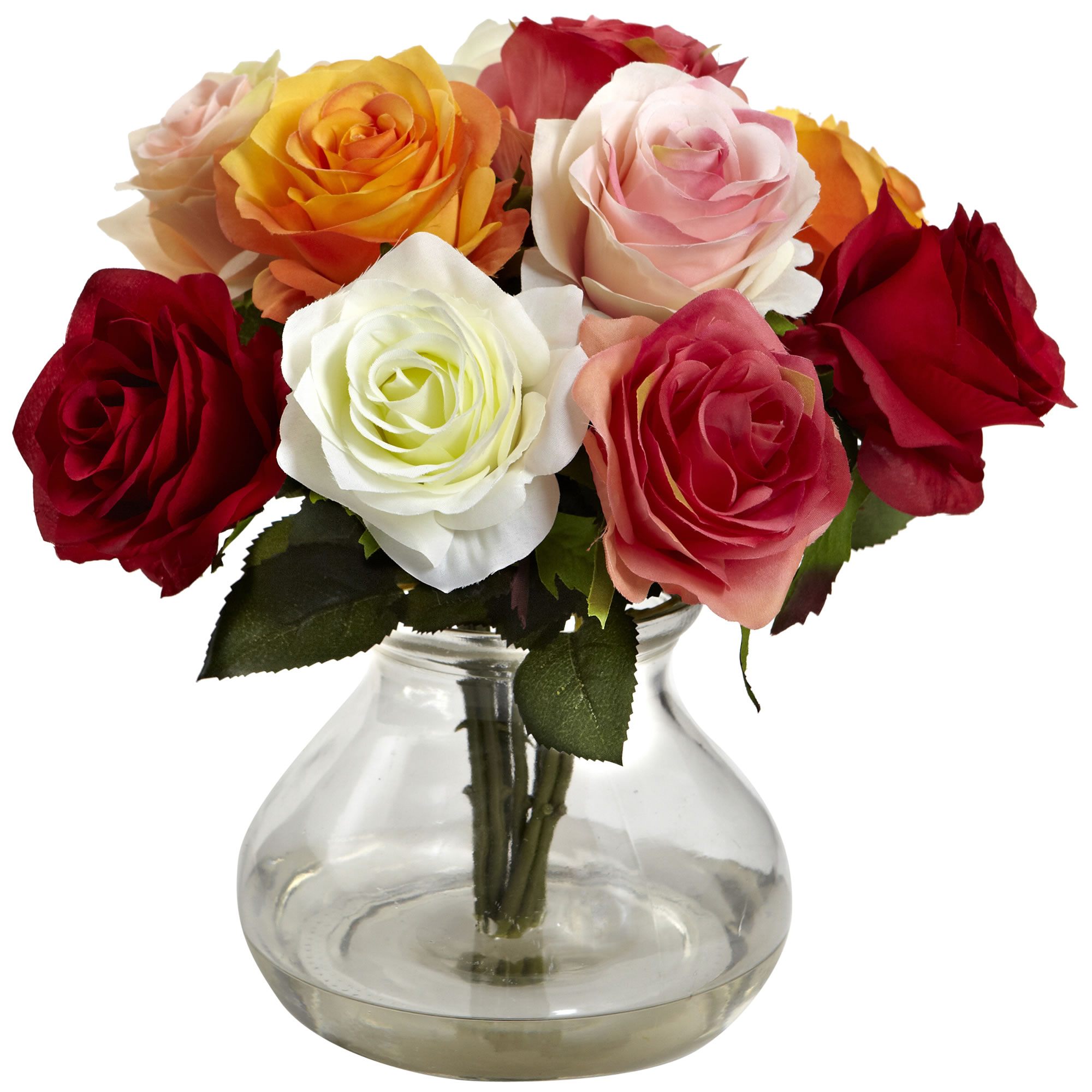Rose Arrangement w/Vase - SKU #1367