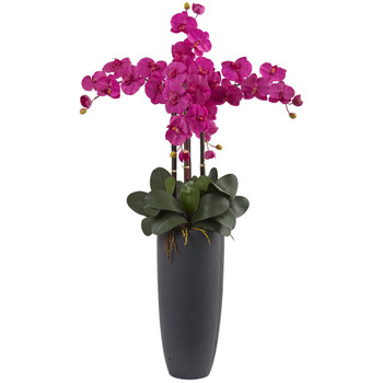 Phalaenopsis Orchid Arrangement with Bullet Planter - SKU #1369