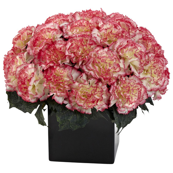 Carnation Arrangement w/Vase - SKU #1372 - 3