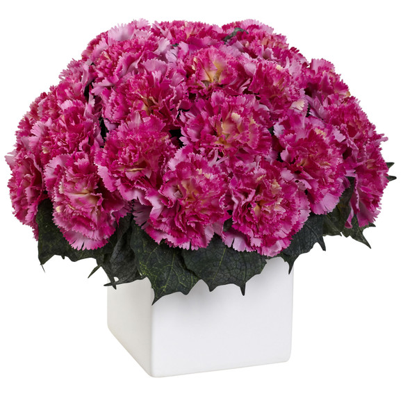 Carnation Arrangement w/Vase - SKU #1372 - 1