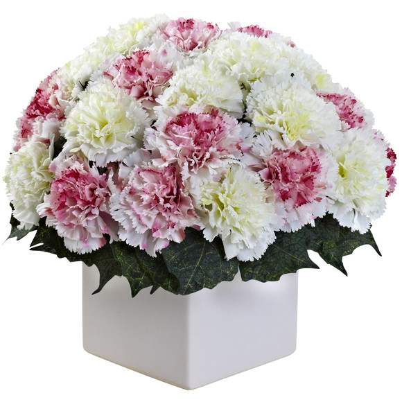 Carnation Arrangement w/Vase - SKU #1372