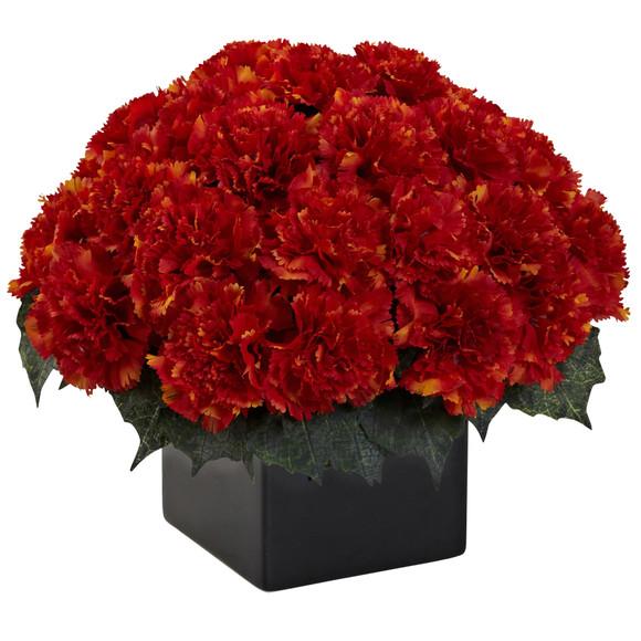 Carnation Arrangement w/Vase - SKU #1372 - 5