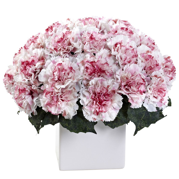 Carnation Arrangement w/Vase - SKU #1372 - 4