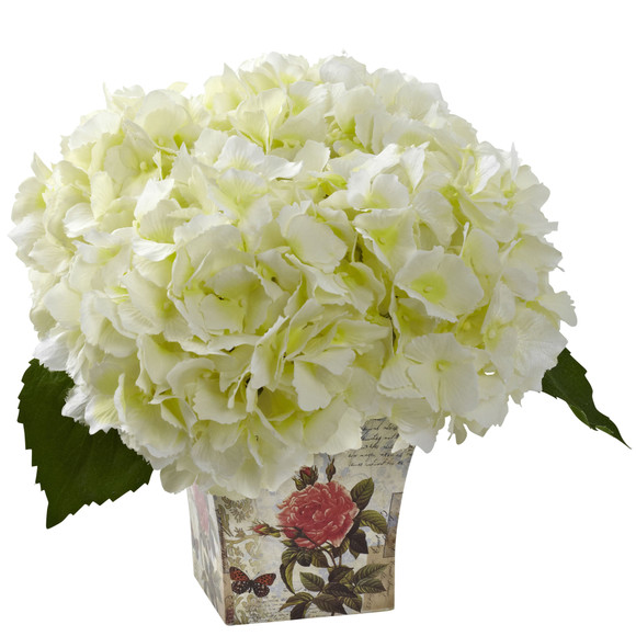Hydrangea with Floral Planter - SKU #1373 - 1