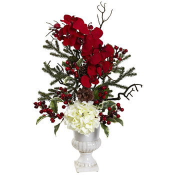 Holiday Elegance Arrangement w/Urn - SKU #1384