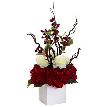 Holiday Cheers Arrangement w/Vase - SKU #1386