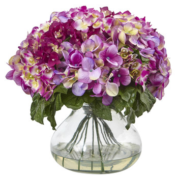 Hydrangea w/Large Vase - SKU #1387-BU
