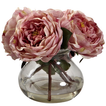 Fancy Rose w/Vase - SKU #1391