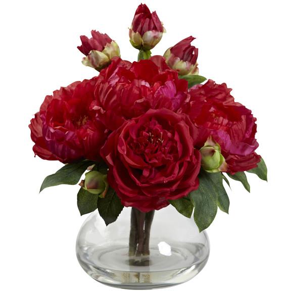 Peony Rose w/Vase - SKU #1400