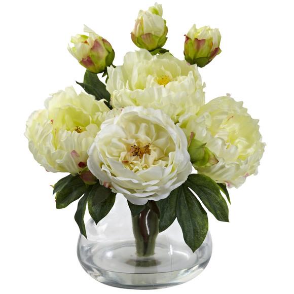 Peony Rose w/Vase - SKU #1400 - 1