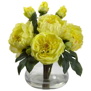 Peony Rose w/Vase - SKU #1400-YL