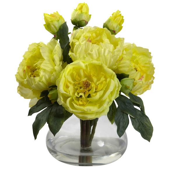 Peony Rose w/Vase - SKU #1400 - 2