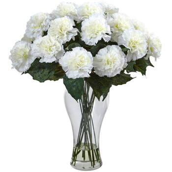 Blooming Carnation Arrangement w/Vase - SKU #1403-CR