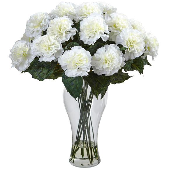 Blooming Carnation Arrangement w/Vase - SKU #1403 - 1