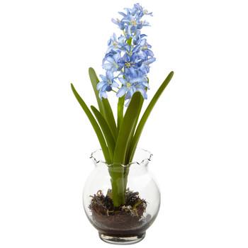 Hyacinth Birds Nest w/Vase - SKU #1414-BL