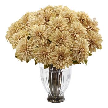 Silk Dahlia Floral Arrangement - SKU #1419