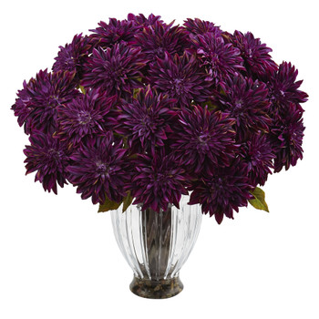 Silk Dahlia Floral Arrangement - SKU #1419