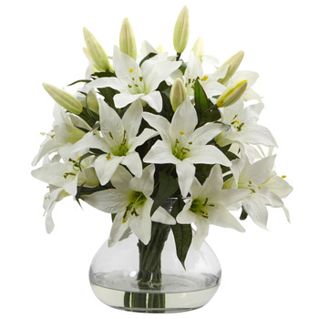 Large Lily Arrangement with Vase - SKU #1432