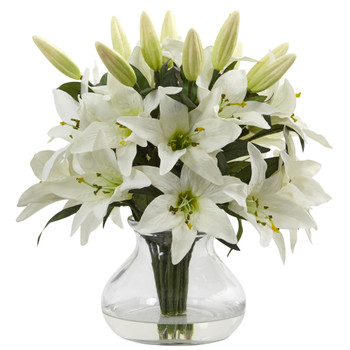 Lily Arrangement with Vase - SKU #1434