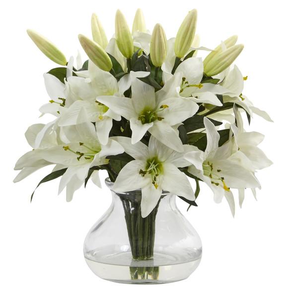 Lily Arrangement with Vase - SKU #1434